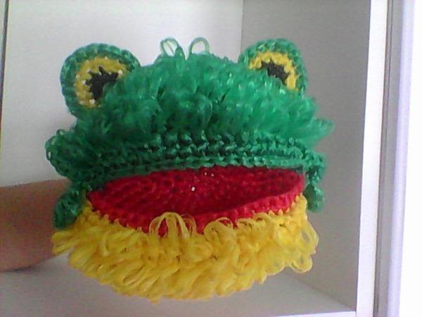 Вязание  из полипропилена, лягушка | Ярмарка Мастеров - ручная работа, handmade