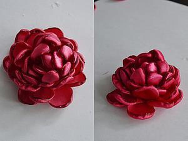 Делаем пион из лент | Ярмарка Мастеров - ручная работа, handmade