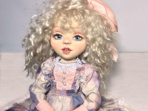 Виктория — текстильная шарнирная кукла | Ярмарка Мастеров - ручная работа, handmade