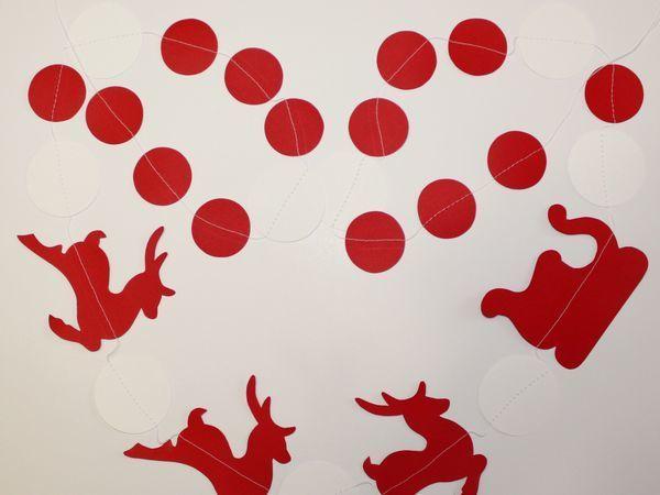 Как легко сделать новогоднюю гирлянду с оленями из бумаги | Ярмарка Мастеров - ручная работа, handmade