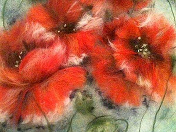 Живопись шерстью картина  «Маки» | Ярмарка Мастеров - ручная работа, handmade