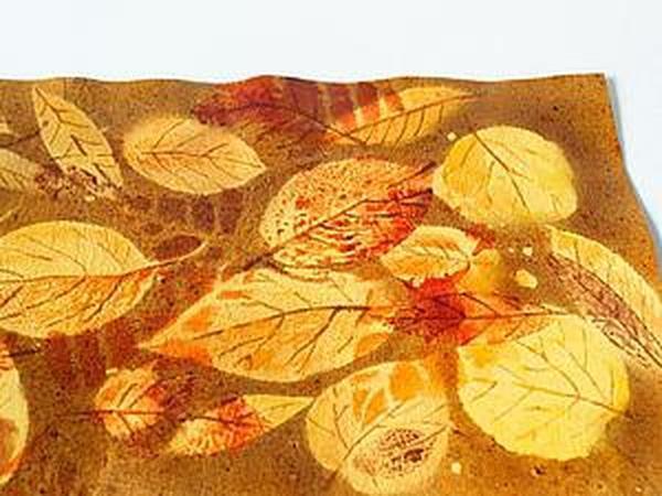 Краски осени: делаем принт на коже   Ярмарка Мастеров - ручная работа, handmade
