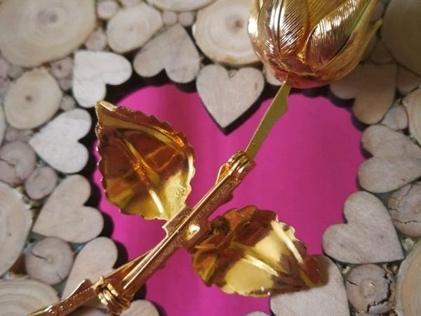 Аукцион: Винтажная брошь  «Золотая Роза» , Giovanni, Сша, 1970е!   Ярмарка Мастеров - ручная работа, handmade