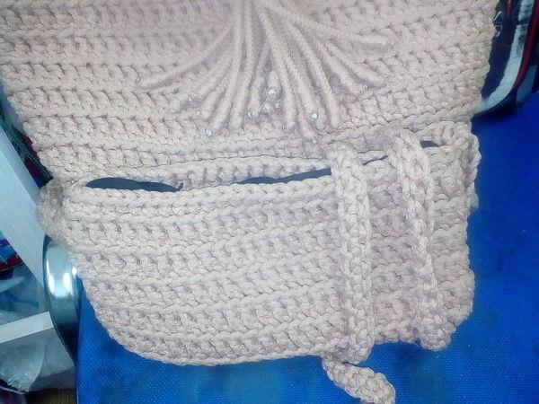 Вяжем оригинальную поясную сумочку из полиэфирного шнура | Ярмарка Мастеров - ручная работа, handmade