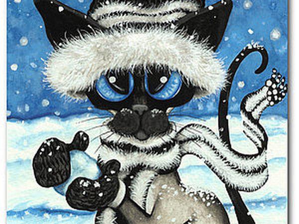 Кошки в искусстве. Сиамистость AmyLyn Bihrle.   Ярмарка Мастеров - ручная работа, handmade