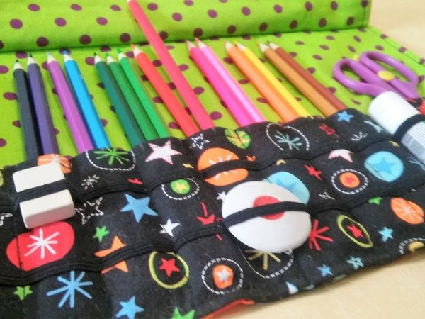 Шьем пенал из ткани для карандашей, ручек, кистей, спиц | Ярмарка Мастеров - ручная работа, handmade