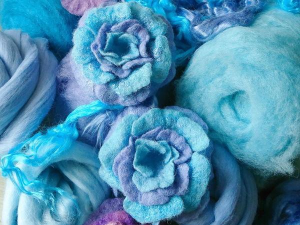 Валяем цветы из шерсти в технике мокрое валяние   Ярмарка Мастеров - ручная работа, handmade