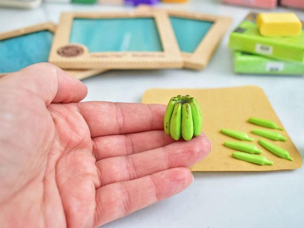 DIY: Бананы из полимерной глины / Делаем бусины своими руками / Polymer clay banana beads Tutorial | Ярмарка Мастеров - ручная работа, handmade