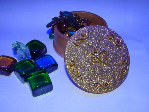 Мастерим блестящую шкатулочку для мелочей | Ярмарка Мастеров - ручная работа, handmade