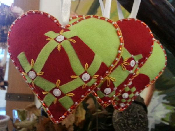 Шьем оригинальные фетровые сердца   Ярмарка Мастеров - ручная работа, handmade