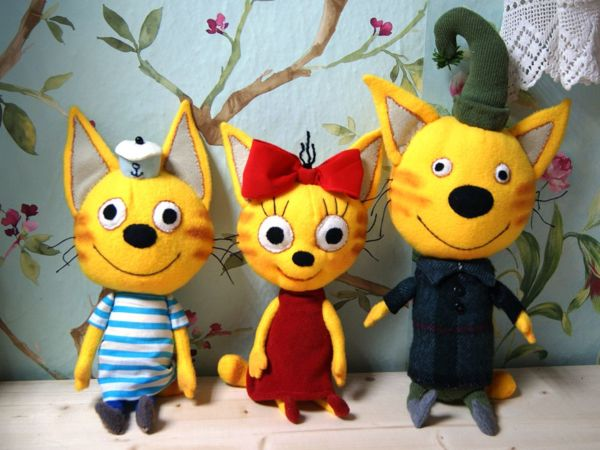 Шьём флисовую кошечку Карамельку из мультфильма «Три кота»   Ярмарка Мастеров - ручная работа, handmade