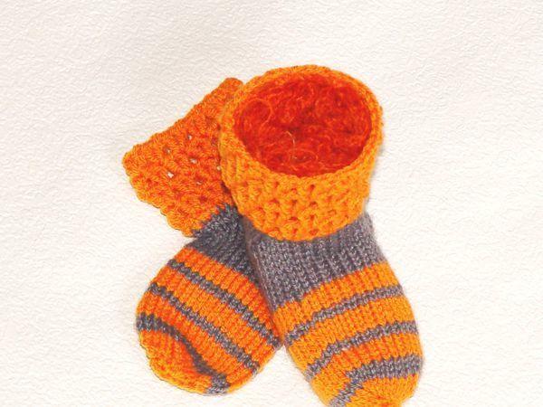 Новая работа. Полосатые детские носочки   Ярмарка Мастеров - ручная работа, handmade