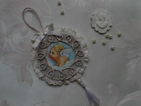 Изготавливаем подвеску на ёлочку «Ангел» | Ярмарка Мастеров - ручная работа, handmade