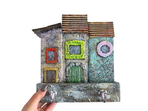 Создаем ключницу домики из коробок | Ярмарка Мастеров - ручная работа, handmade