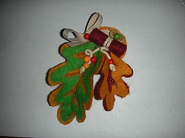 Брошь из фетра «Осенняя» | Ярмарка Мастеров - ручная работа, handmade