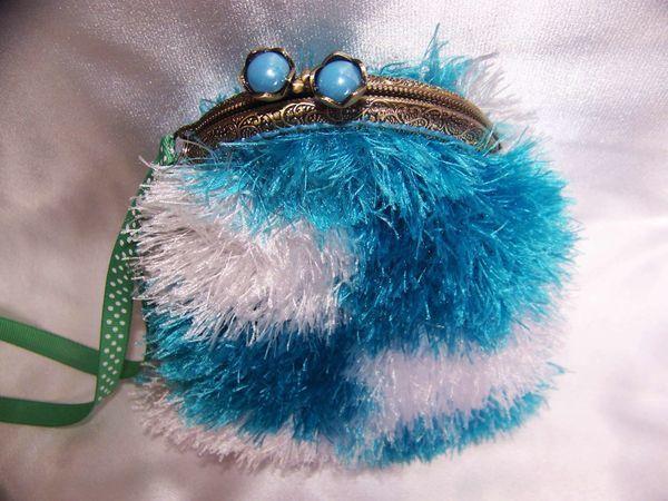Вяжем кошелёк с фермуаром «Танцующие облака»   Ярмарка Мастеров - ручная работа, handmade