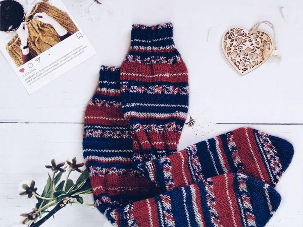 Вяжем носки без пятки на любой размер   Ярмарка Мастеров - ручная работа, handmade