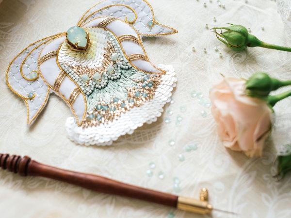 Украшения и аксессуары: люневильская вышивка | Ярмарка Мастеров - ручная работа, handmade