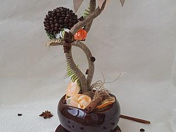 Мастерим топиарий-подсвечник | Ярмарка Мастеров - ручная работа, handmade