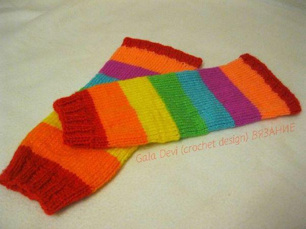 Бесплатный МК- Вязание на спицах — носки, гетры, варежки | Ярмарка Мастеров - ручная работа, handmade
