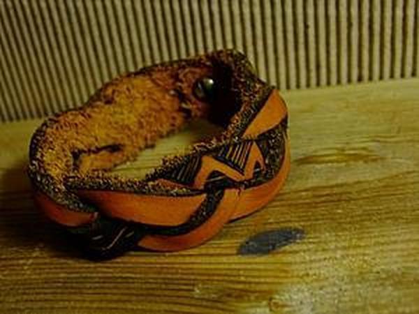 Создание плетеного браслета из натуральной кожи | Ярмарка Мастеров - ручная работа, handmade