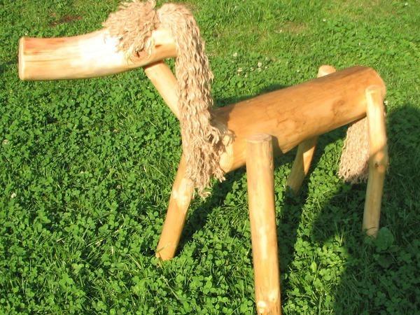 Мастерим садовый декор — лошадку из веток | Ярмарка Мастеров - ручная работа, handmade
