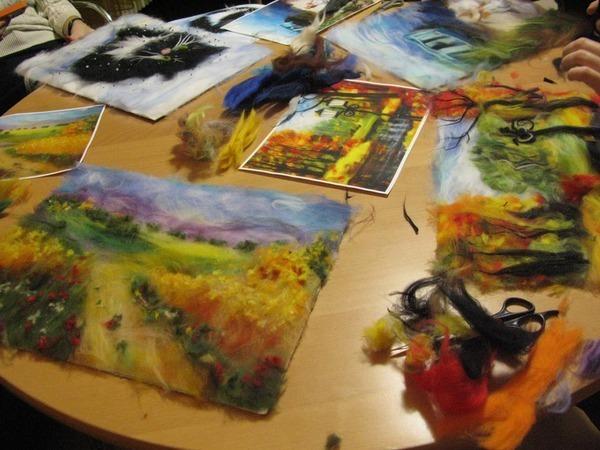 Мастер класс по живописи шерстью | Ярмарка Мастеров - ручная работа, handmade