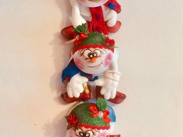 Изготавливаем забавную новогоднюю гирлянду из фоамирана | Ярмарка Мастеров - ручная работа, handmade