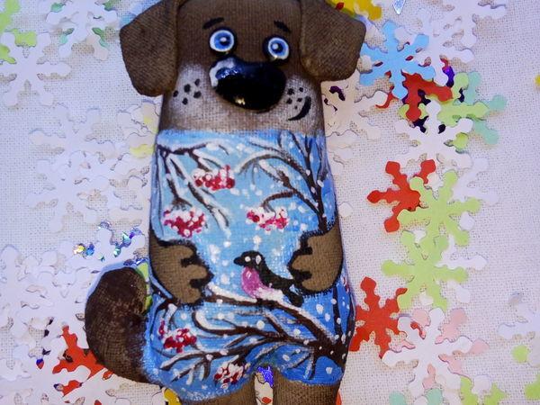 Шьём ёлочную игрушку — собачку | Ярмарка Мастеров - ручная работа, handmade