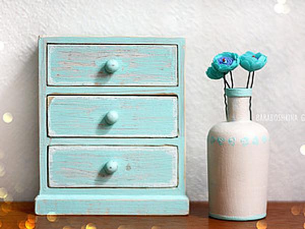 Декорируем деревянный мини-комодик | Ярмарка Мастеров - ручная работа, handmade
