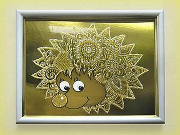 Расписываем стекло «Солнечный ёжик»   Ярмарка Мастеров - ручная работа, handmade