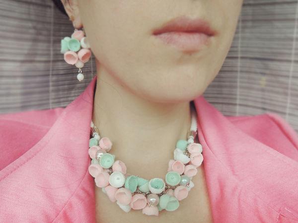 Розовый цвет в украшениях | Ярмарка Мастеров - ручная работа, handmade