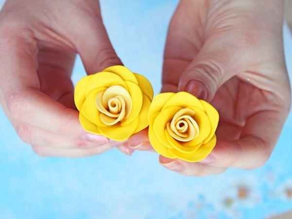 Видеоурок: делаем маленькие розы из фоамирана своими руками | Ярмарка Мастеров - ручная работа, handmade