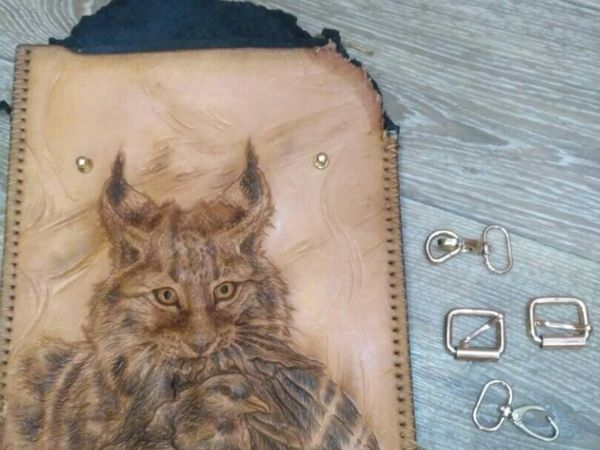 Непреодолимая сила _ Кожаная сумка Рысь   Ярмарка Мастеров - ручная работа, handmade