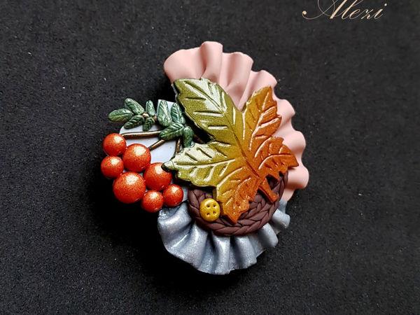 Создаём брошь «Осеннее бохо» | Ярмарка Мастеров - ручная работа, handmade