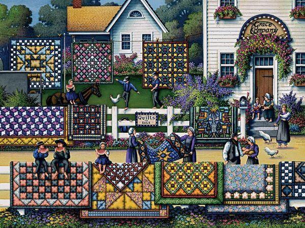 Город в стиле пэчворк | Ярмарка Мастеров - ручная работа, handmade