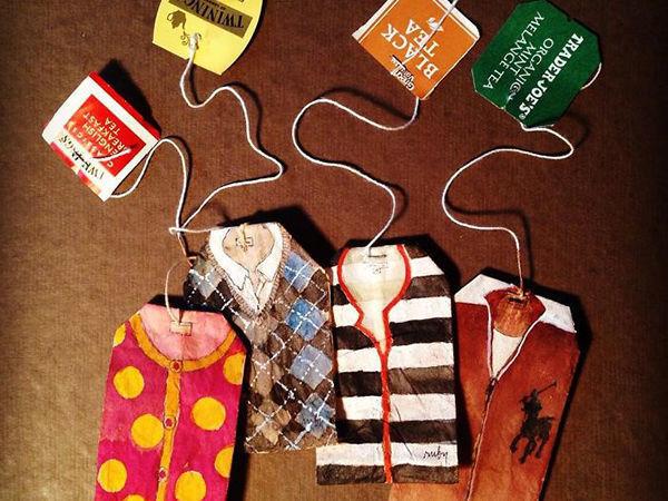 Как найти постоянный источник вдохновения: картины на чайных пакетиках Ruby Silvious | Ярмарка Мастеров - ручная работа, handmade