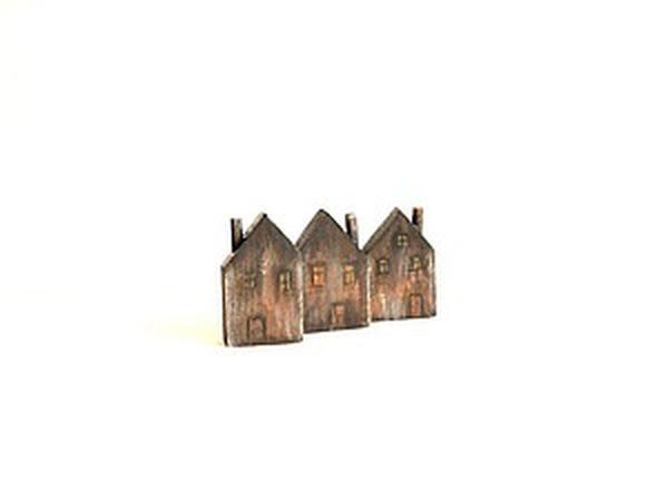 Делаем мини-домики из дерева для декора | Ярмарка Мастеров - ручная работа, handmade