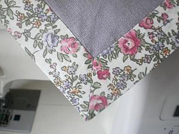 Салфетка из ткани: оформление уголков | Ярмарка Мастеров - ручная работа, handmade