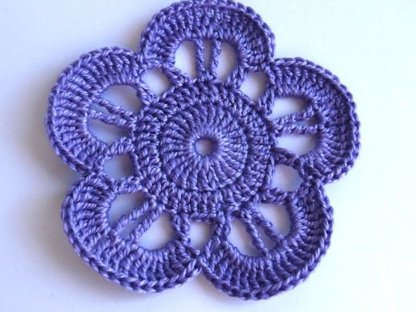 Вяжем цветочек крючком | Ярмарка Мастеров - ручная работа, handmade
