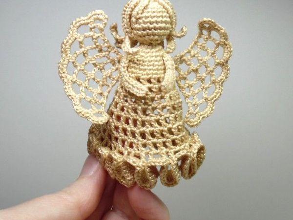 Сняла видео как связать крючком ангела | Ярмарка Мастеров - ручная работа, handmade