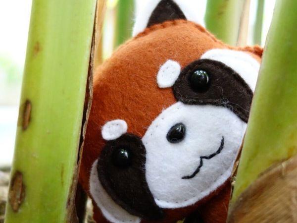 Шьем красную панду. Игрушка из фетра | Ярмарка Мастеров - ручная работа, handmade