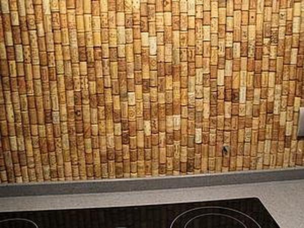 Decorate It Yourself: How to Make a Kitchen Backsplash Using Corks   Livemaster - handmade