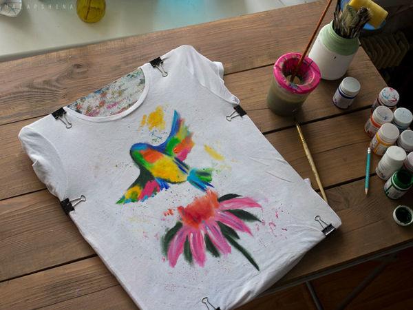 Несколько часов росписи за 1 минуту! Делаем одежду ярче | Ярмарка Мастеров - ручная работа, handmade