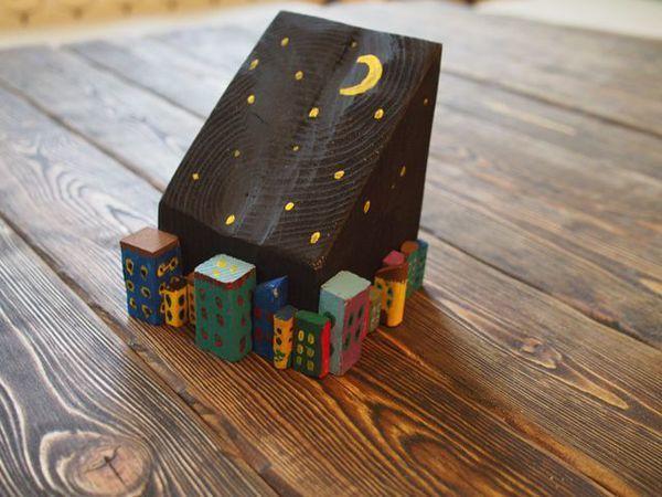 Видео мастер-класс: создаем вместе с ребенком уютный и необычный предмет интерьера «Ночной город» | Ярмарка Мастеров - ручная работа, handmade