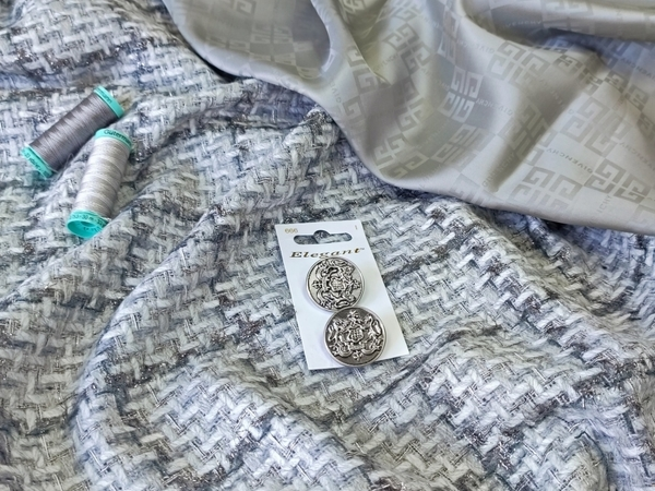 НОВИНКА! Ткань костюмная в клетку с люрексом | Ярмарка Мастеров - ручная работа, handmade