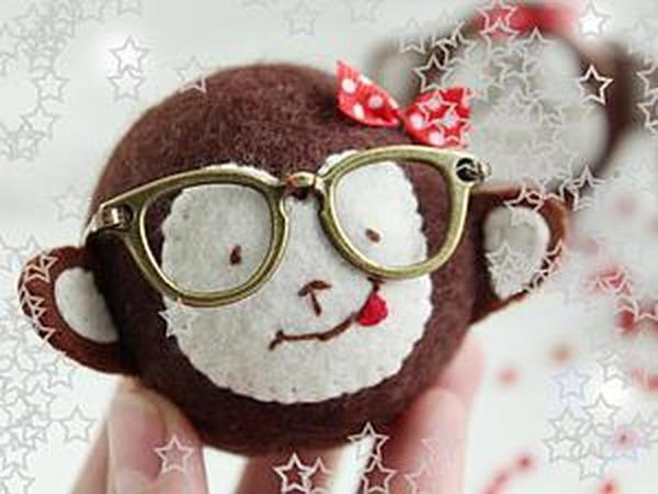 Шьем в меру умную, но ужасно милую обезьянку | Ярмарка Мастеров - ручная работа, handmade