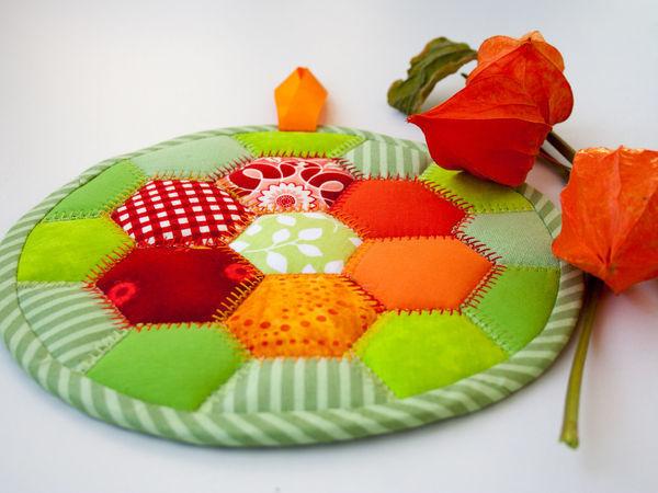 Шьем подставку под горячее «Краски осени» | Ярмарка Мастеров - ручная работа, handmade