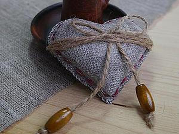 Мастер-класс: сердечко в стиле рустик из полимерной глины | Ярмарка Мастеров - ручная работа, handmade