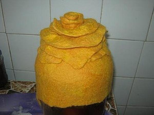 Валяем шапочку-розу | Ярмарка Мастеров - ручная работа, handmade